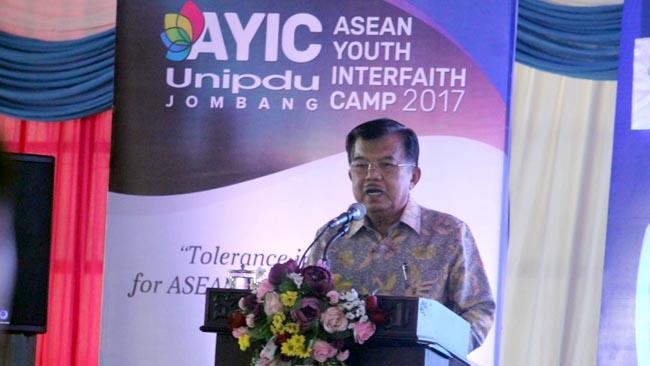 Hadiri ASEAN Youth Interfaith Camp, Wapres Kuliah Umum Pentingnya Generasi Bina Toleransi dan Harmoni