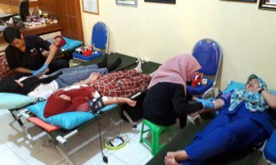Pasok Stok Darah PMI, Ratusan Siswa SMK Antartika 2 Donor Darah