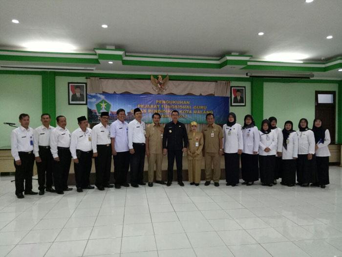 14 Kepala SDN dan SMPN Kota Malang Tempati Tugas Baru