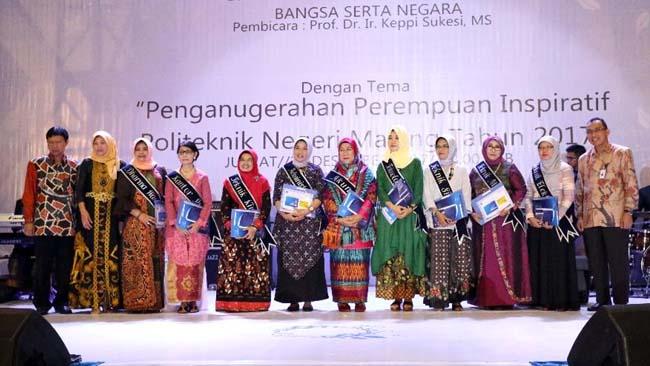Anugerah Perempuan Inspiratif Polinema 2017, Dorong Peran Perempuan dalam Upaya Perbaikan Kualitas Bangsa dan Negara