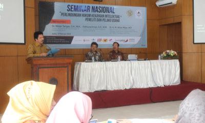 Dr Molan Tarigan SH MH, menyampaikan kondisi Kekayaan Intelektual saat ini. (rhd)