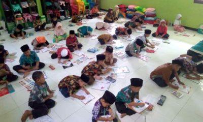 Peringati Hari Batik, Puluhan Siswa SDI Aulia Lomba Mewarna