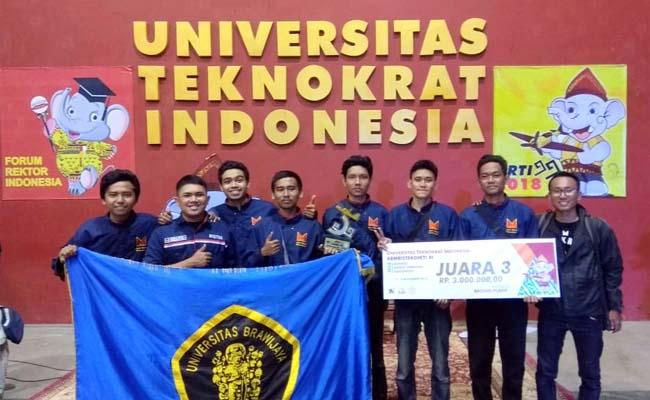 Robot Terbang FT-UB Raih Juara 3 KRTI 2018