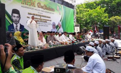 Hadirkan Ribuan Pelajar, YPM Bersholawat Dihadiri Khofifah dan Cak Nur