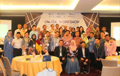 Para peserta, pembicara, dan panitia UM-QA Workshop.