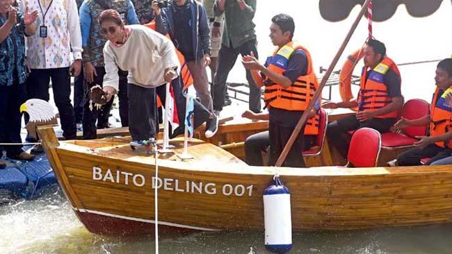Kemenhub RI Terlirik Kapal Bambu di ITS