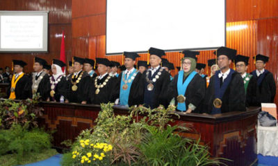 Prof. Ir. Ludfi Djakfar, MSCE, PhD, dan Prof. Dr. Ir. Tri Dewanti Widyaningsih, M.Kes., usai dikukuhkan. (ist)