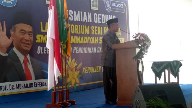 Mendikbud Resmikan Lab Seni Budaya SMK 5 Muhammadiyah Kepanjen
