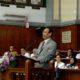 Rektor UNAIR Prof Moh Nasih saat sambutan