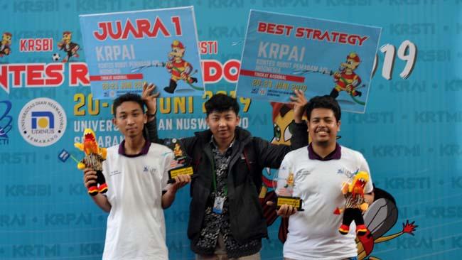 UMM Hatrick Sabet Jawara Kontes Robot Indonesia, Siap Bersaing di Kontes Robot Amerika