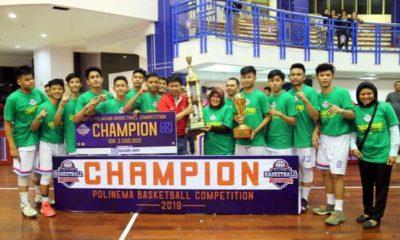 Tim basket putra SMAN 8 Malang raih juara pertama. (rhd)