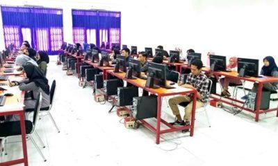 Pelaksanaan Tes Masuk Berbasis Komputer (TMBK) jalur Mandiri UM. (rhd)