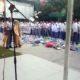 Suasana aksi demonstrasi siswa MAN