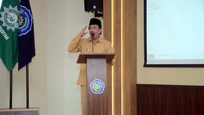 PELATIHAN - Wabup Sidoarjo, Nur Ahmad Syaifuddin membuka acara Kursus Mahir Tingkat Dasar (KMD) 2019 di Umsida, Senin (19/8/2019)