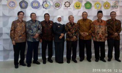 Gubernur Jawa Timur saat menghadiri Raker 11 PTN di UTM, (6/8/2019)