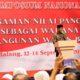 Mendikbud Muhadjir Effendy, menyampaikan pentingnya menanamkan nilai Pancasila ada generasi bangsa. (rhd)