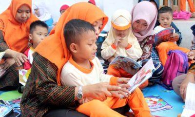 Peringati Hari Aksara, TK Al Muslim Kampanye Literasi dan Donasi Buku