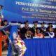 Pengukuhan Prof Dr Ir Bambang Irawan MT menjadi Profesor/ Guru Besar Polinema. (gie)